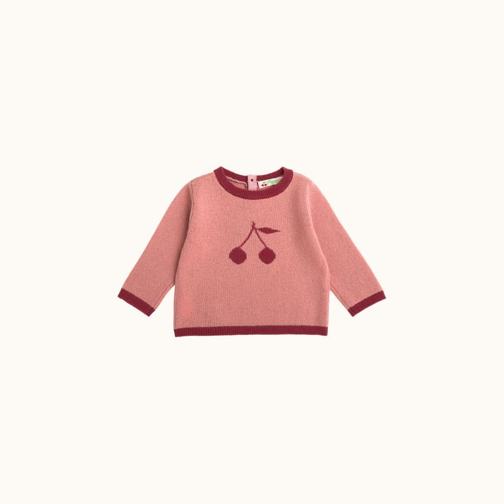 Babies' sweater medium pink