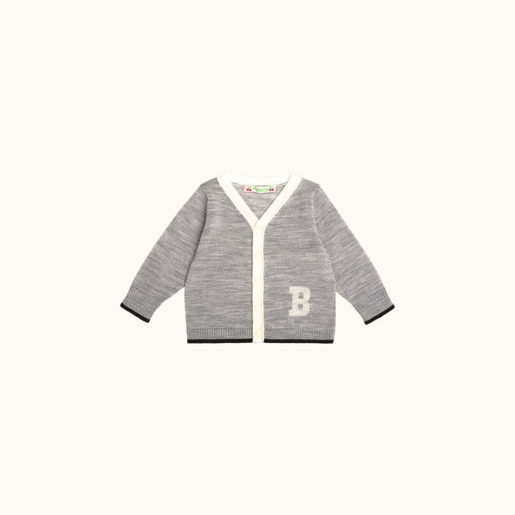 Babies' cardigan Light heathered gray