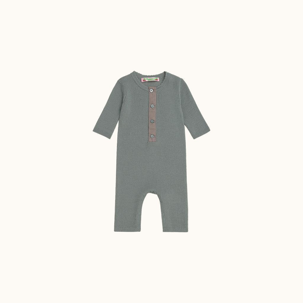 Babies' playsuit gray blue