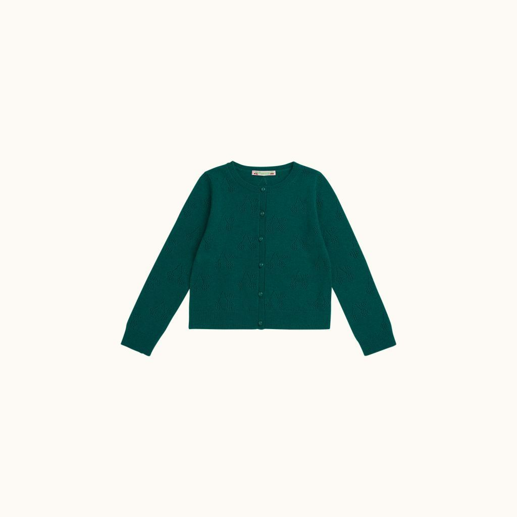 Cashmere cardigan emerald green