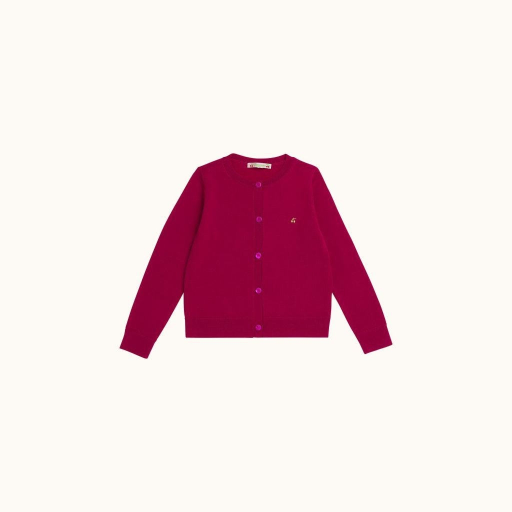 Children's cardigan Fuchsia pink