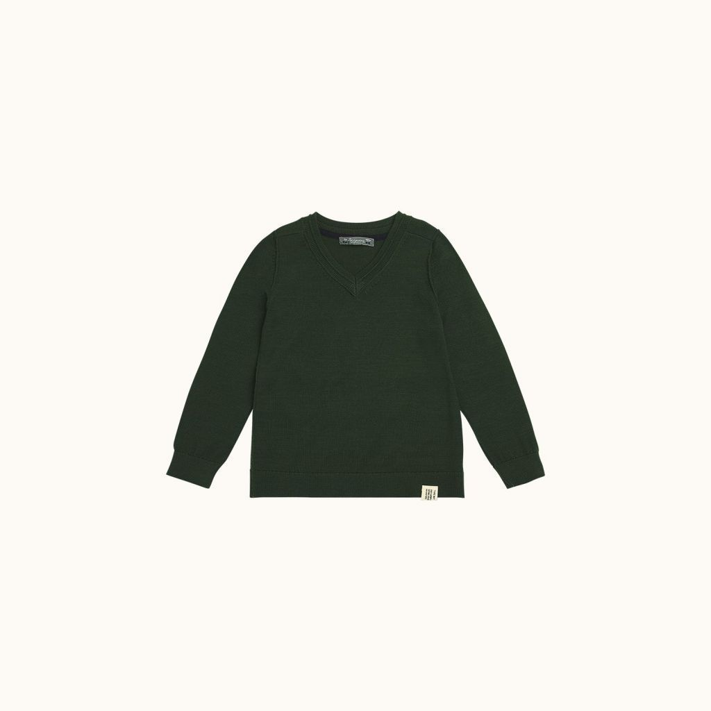 Long-sleeved sweater forest green