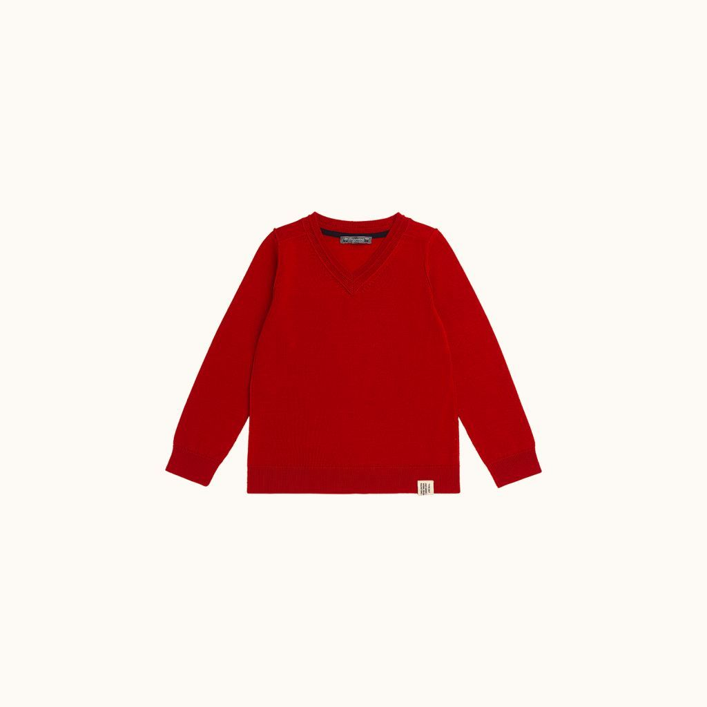 Long-sleeved sweater red