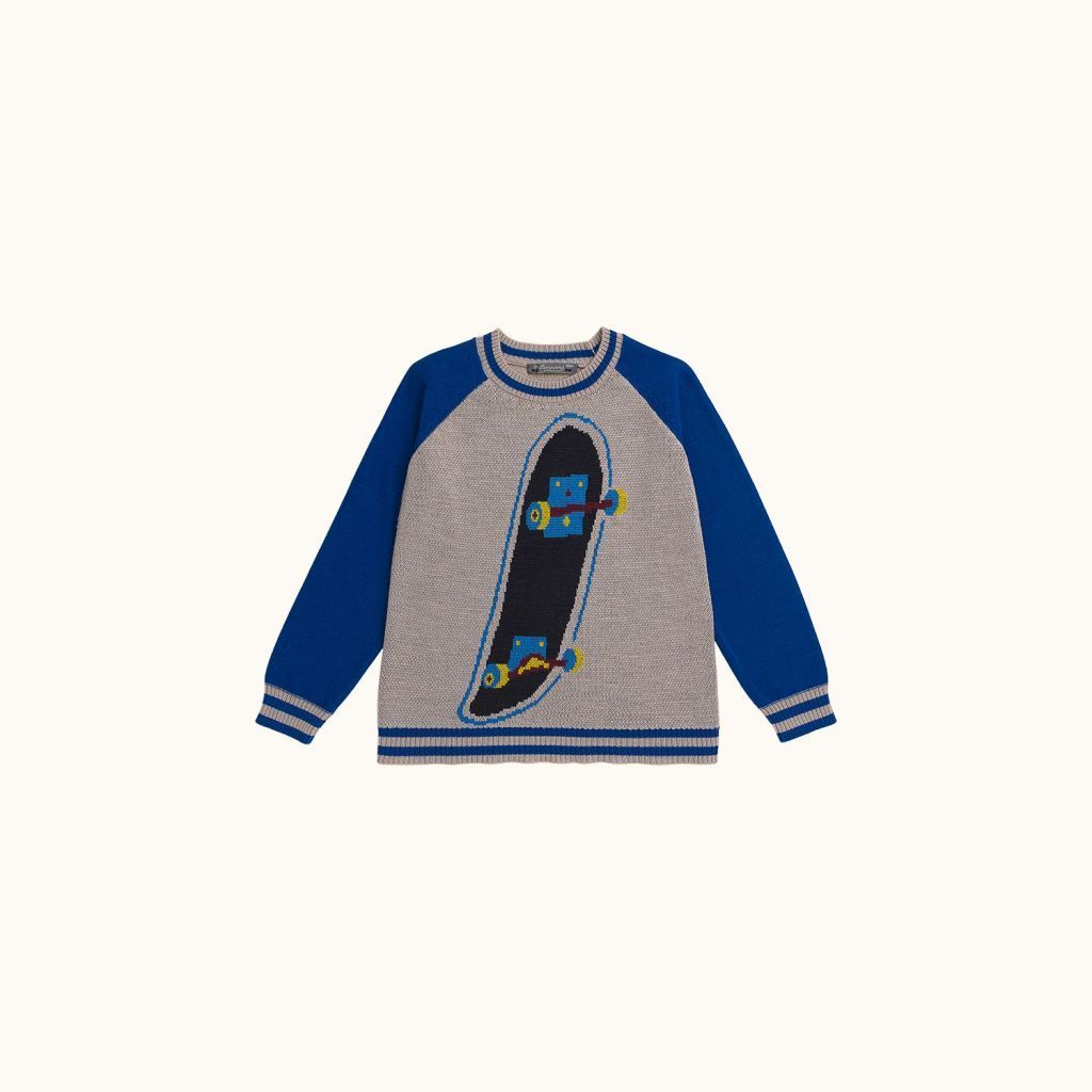 Patterned knit sweater puce