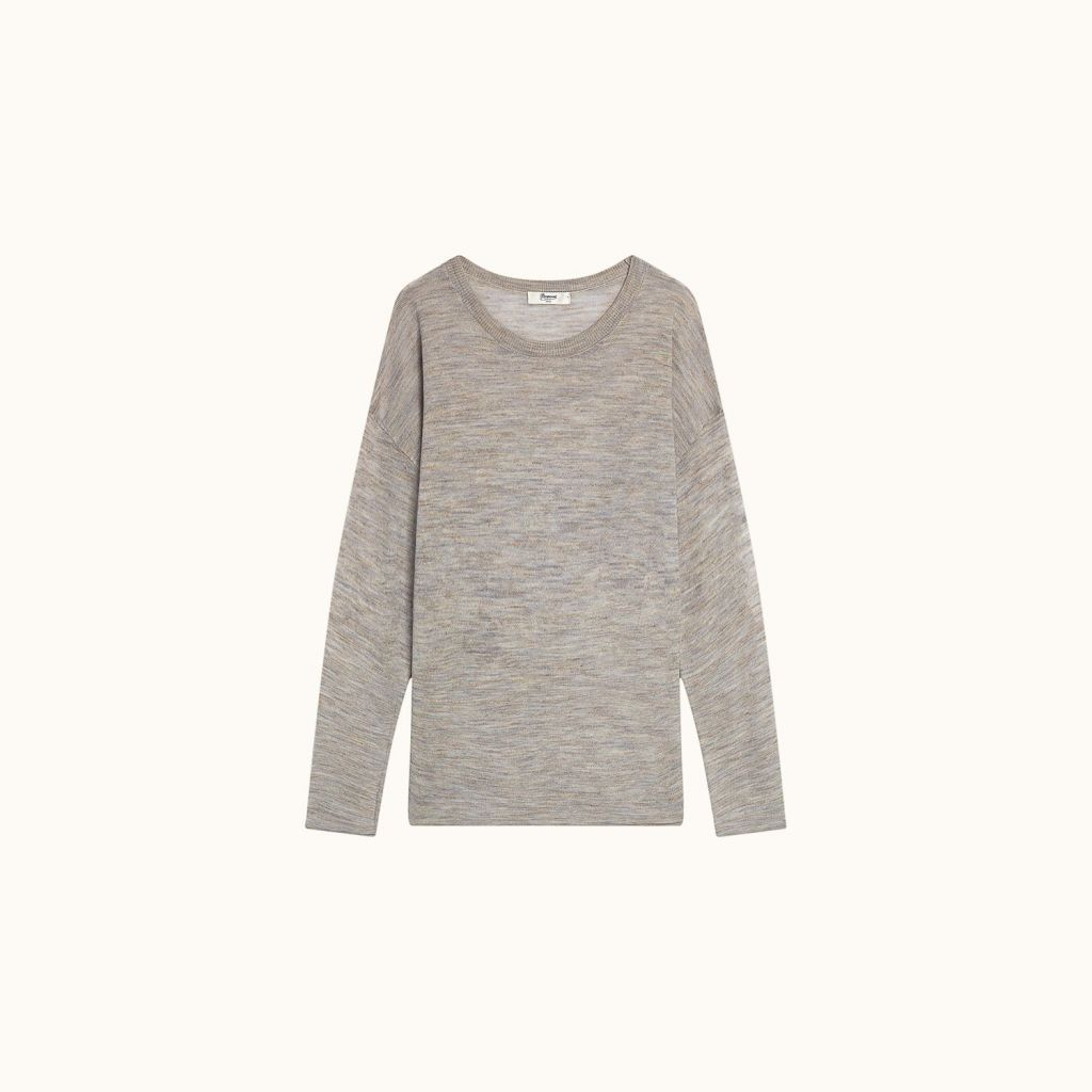 Tunic pullover light heathered gray