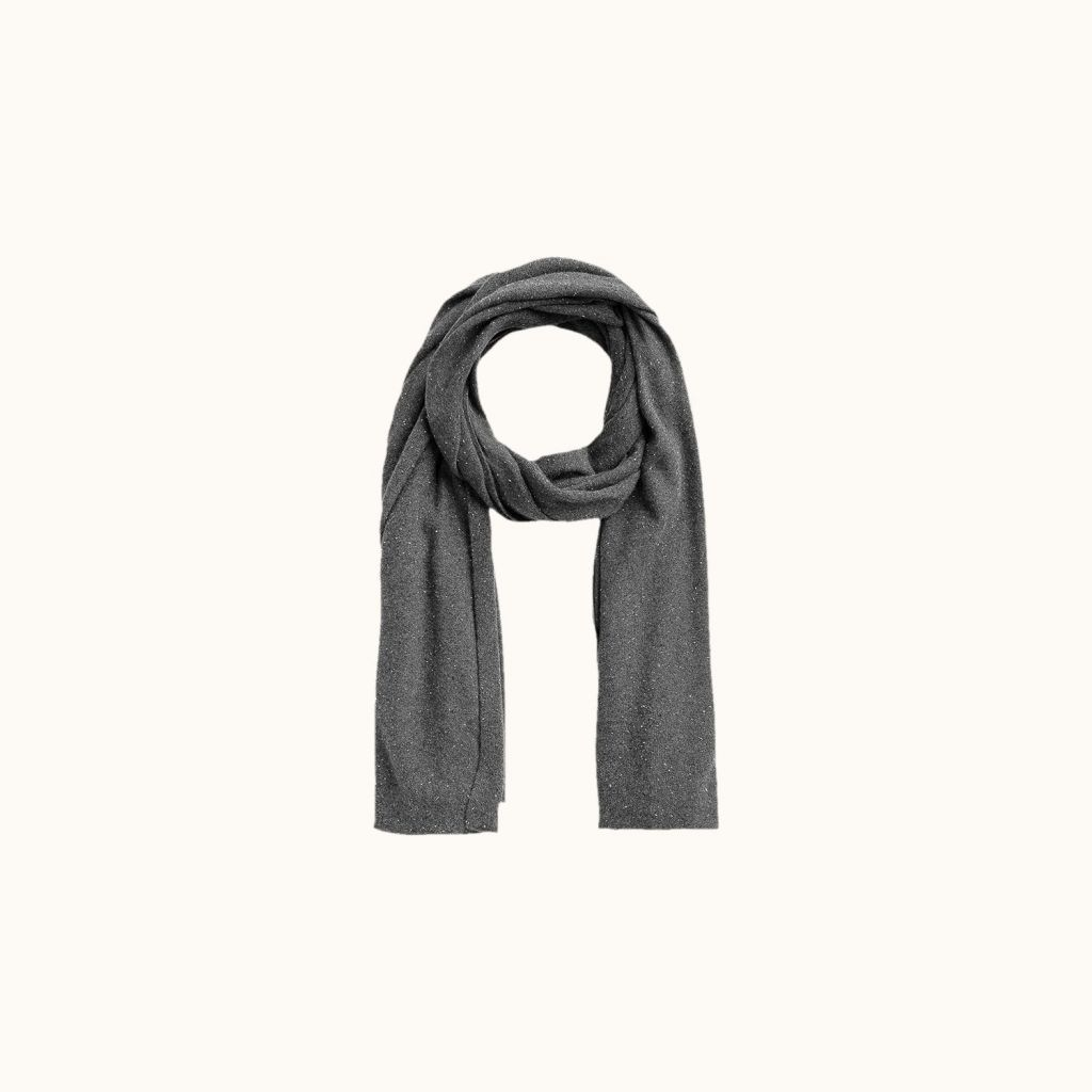 Cashmere scarf medium heathered gra