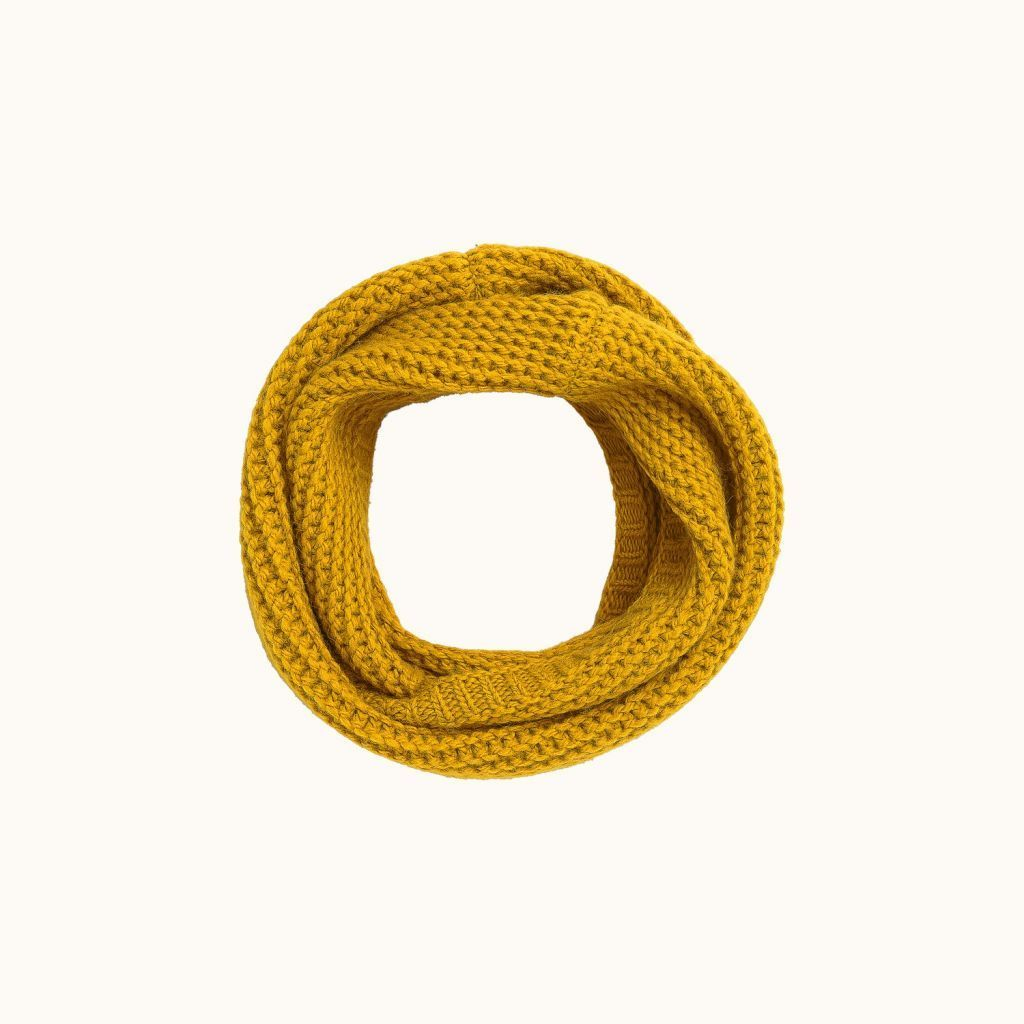 Children's snood sunshine yellow