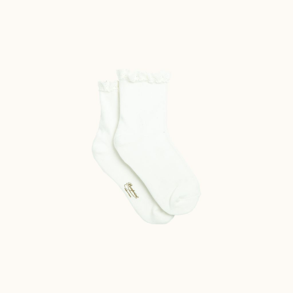 Socks milk white