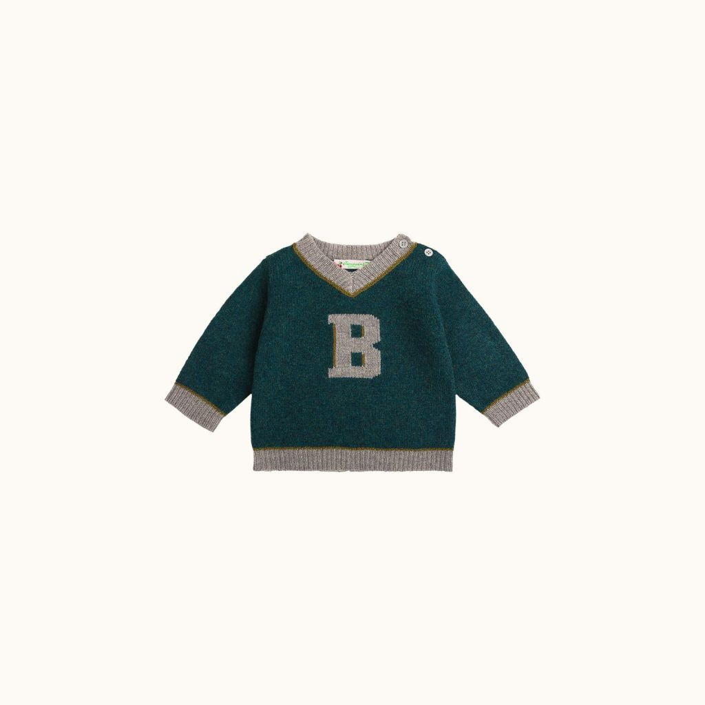 Babies' sweater English green