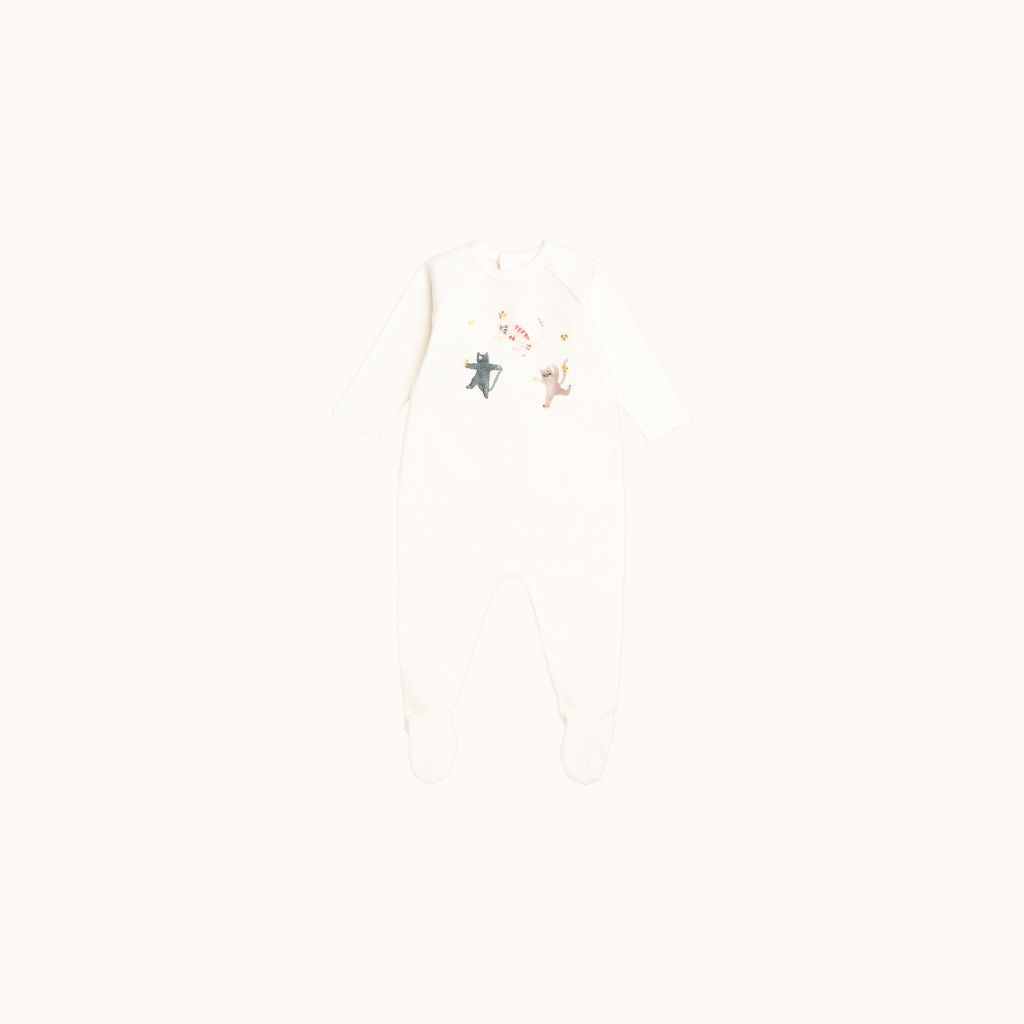 Babies' pajamas Milk white