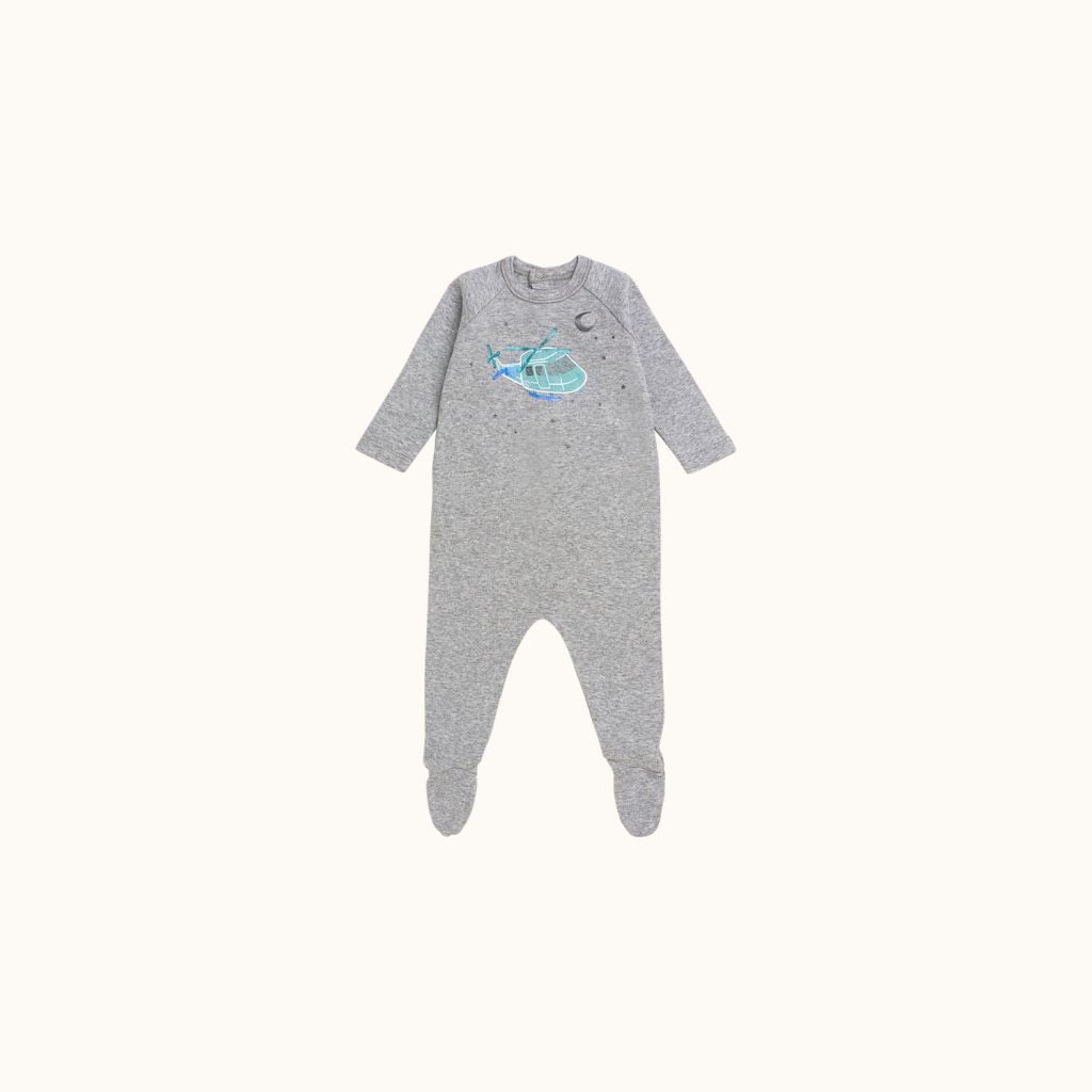 Babies' pajamas Light heathered gray