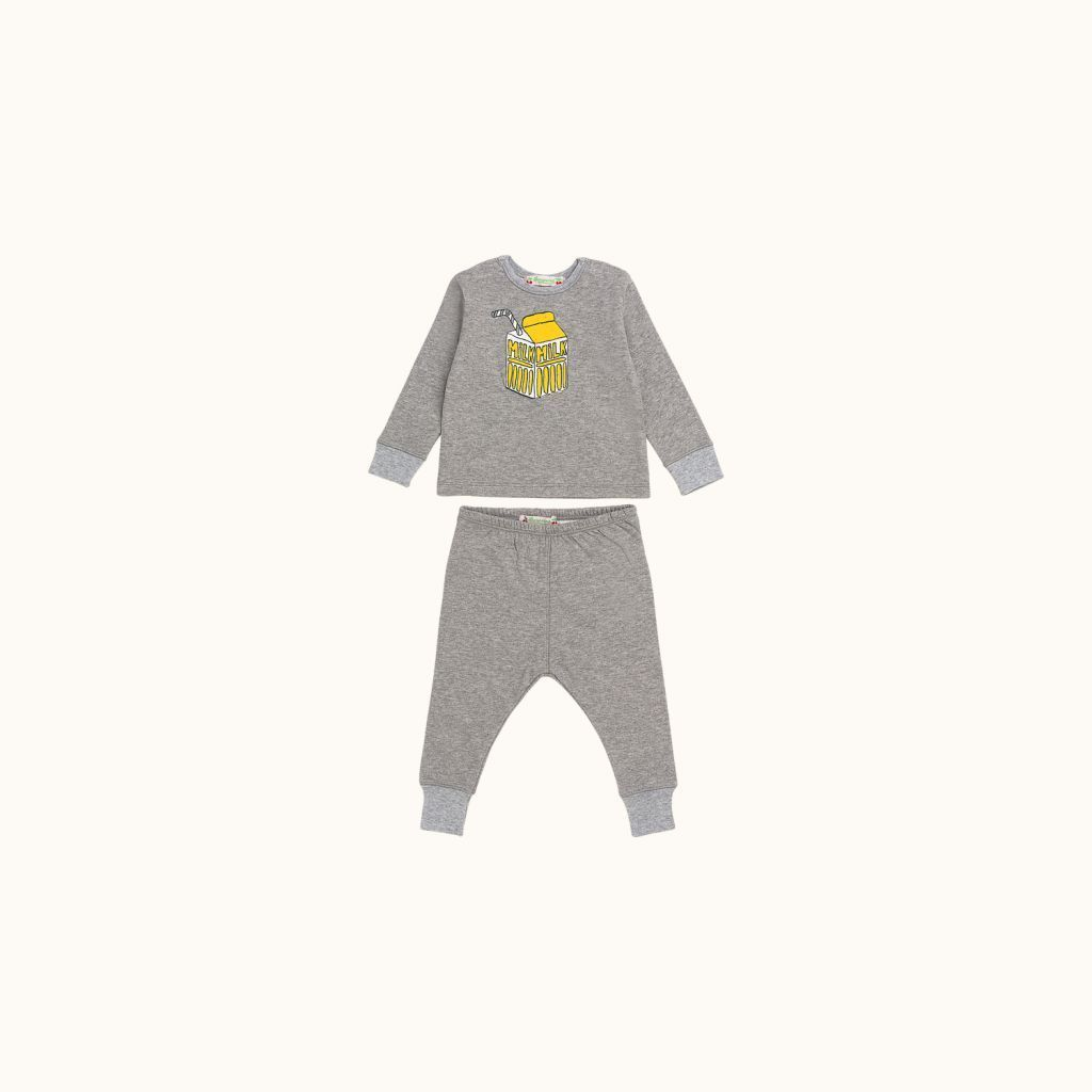 Two-piece babies' set heathered gray