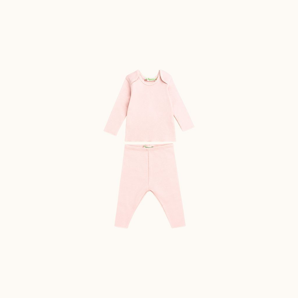 Two-piece babies' set pink