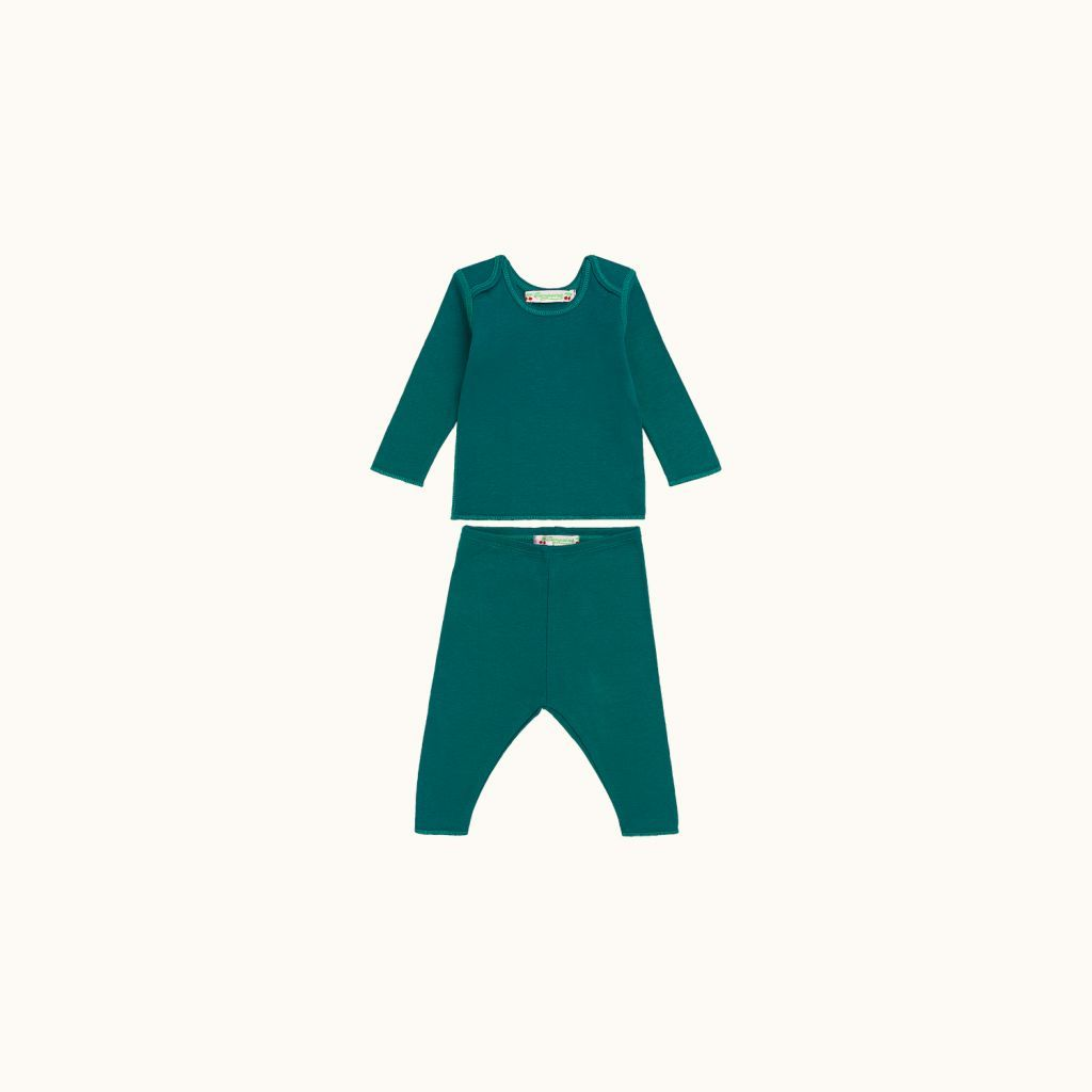 Two-piece babies' set emerald green