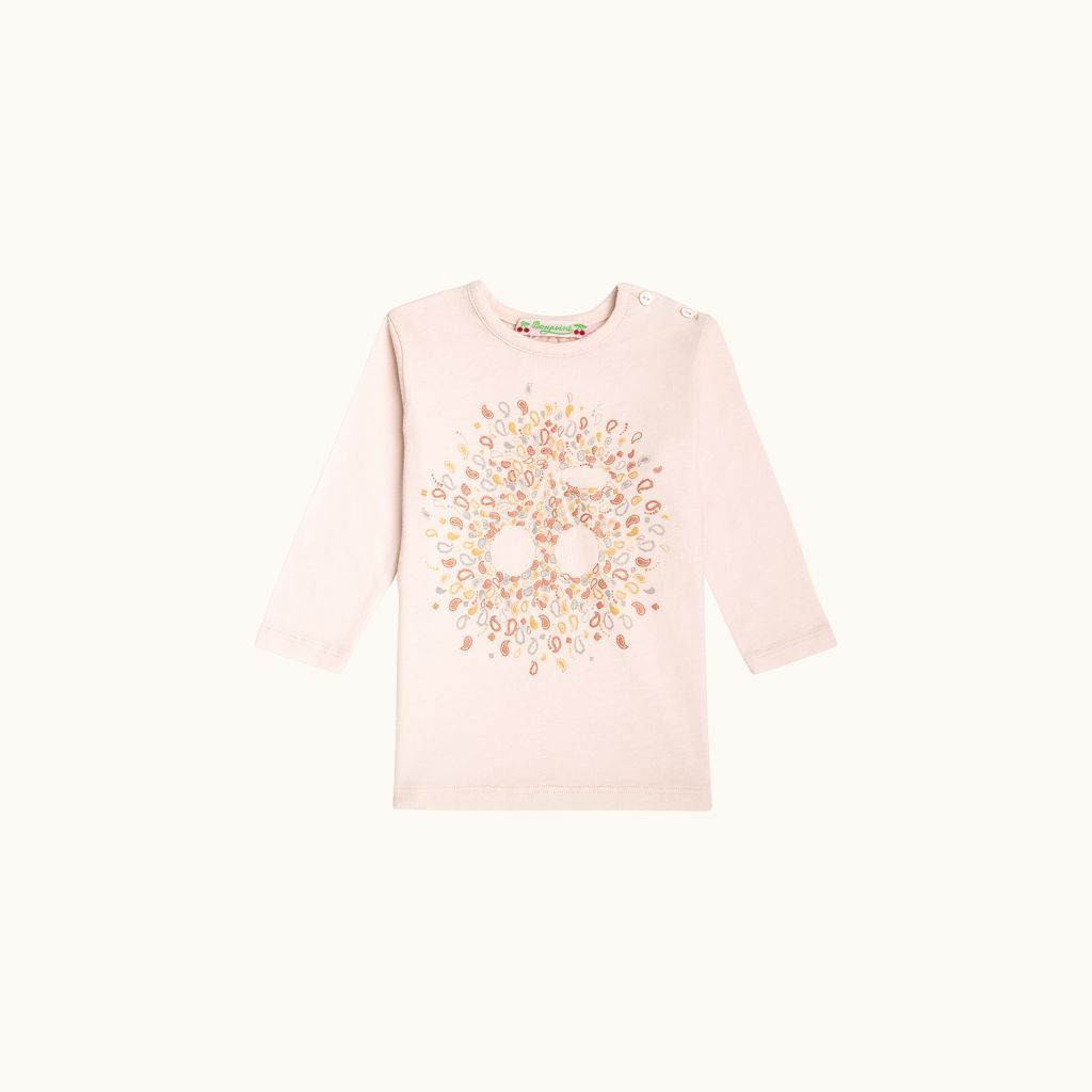 T-shirt rose poudré