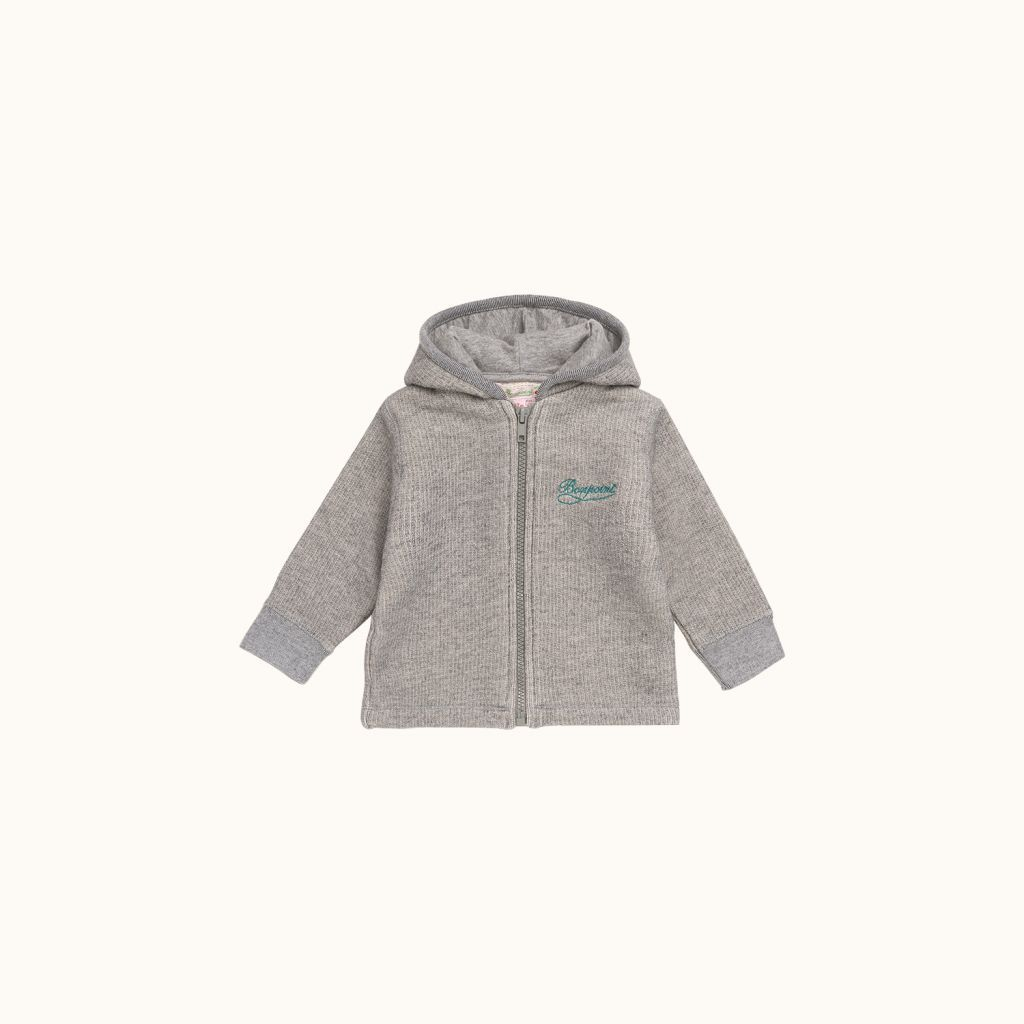 Babies' sweatshirt light heathered gray