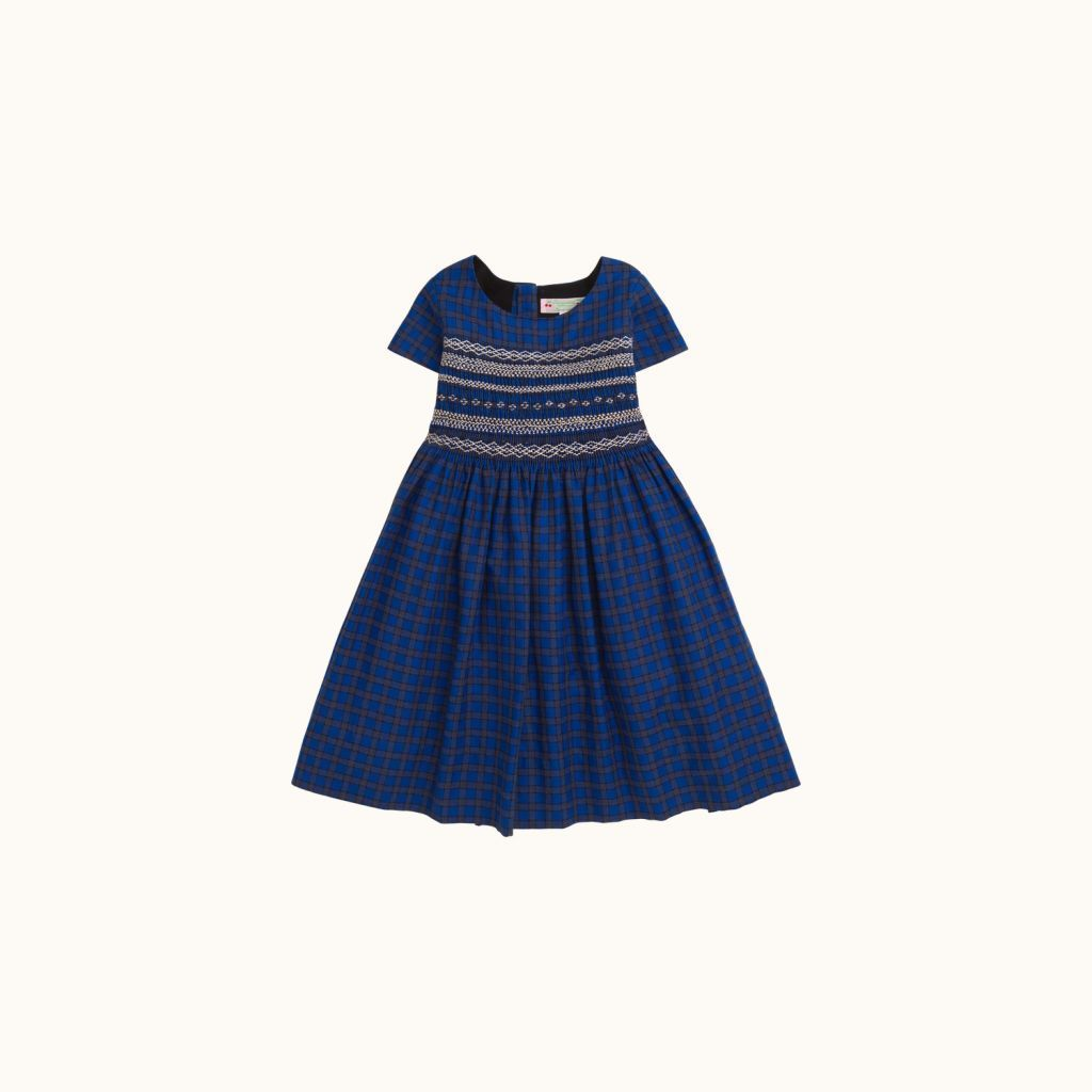 Duchesse girls' dress electric blue
