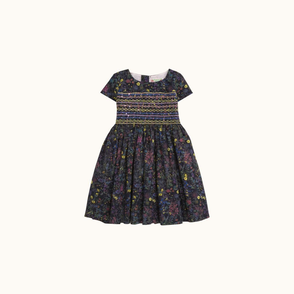 Girls' Duchesse dress Ocean black