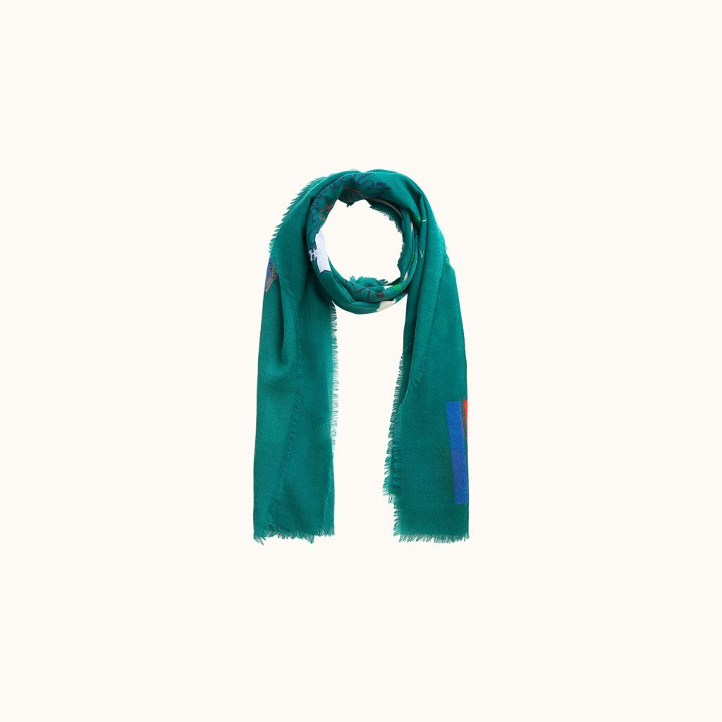 Graf scarf Emerald green