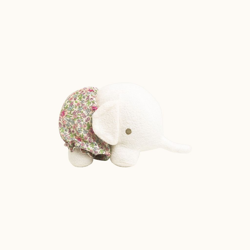 Elephant stuffed animal Milk white