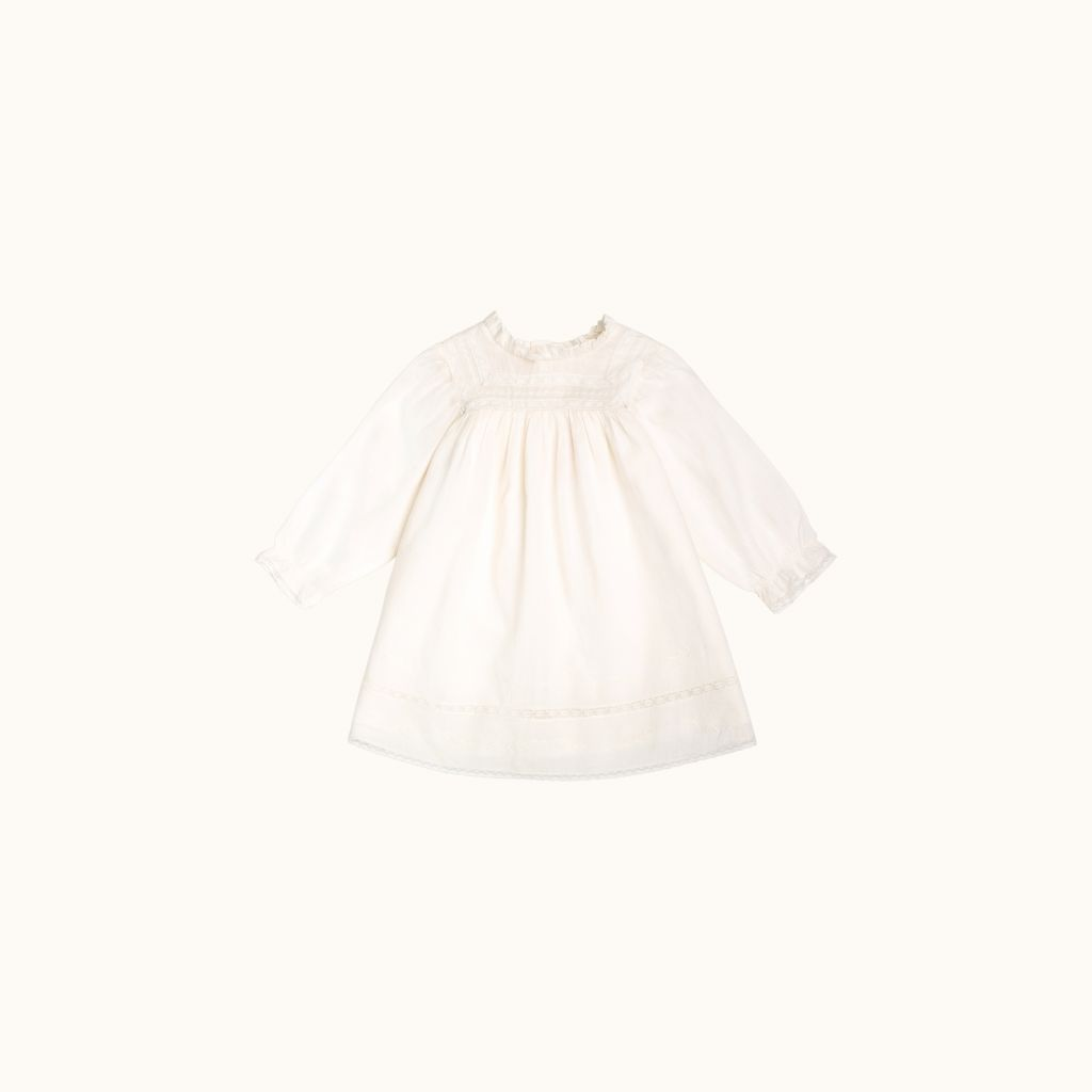 Madeleine dress milk white