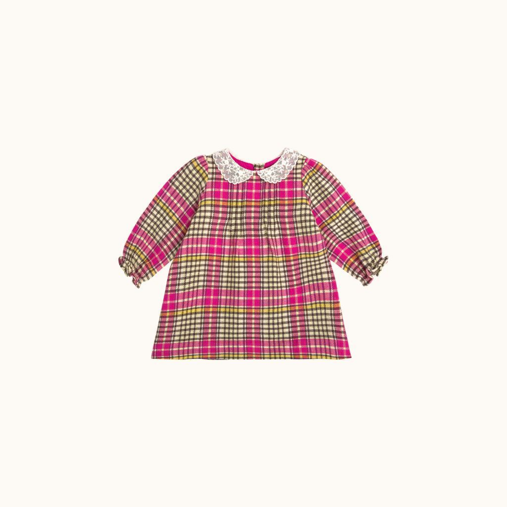 Babies' Magnolia dress Fuchsia pink