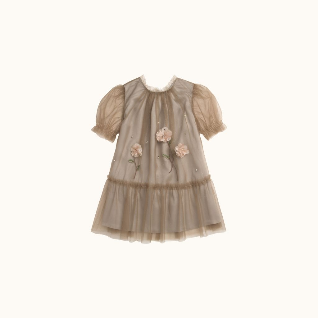 Girls' Marquise dress Puce