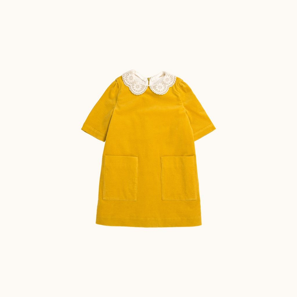 Girls' Maurane dress Buttercup yellow