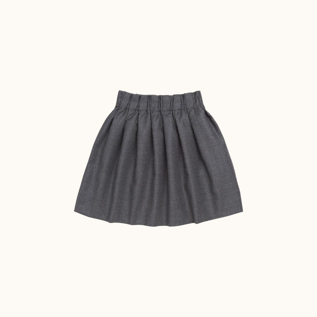 Morgan skirt heathered gray