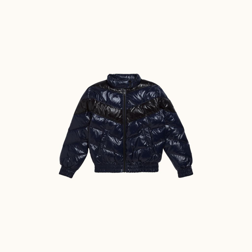 Mosaic puffer jacket Ink