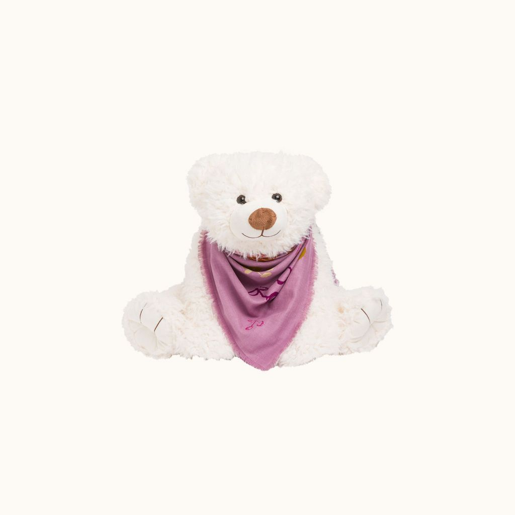 Teddy bear milk white