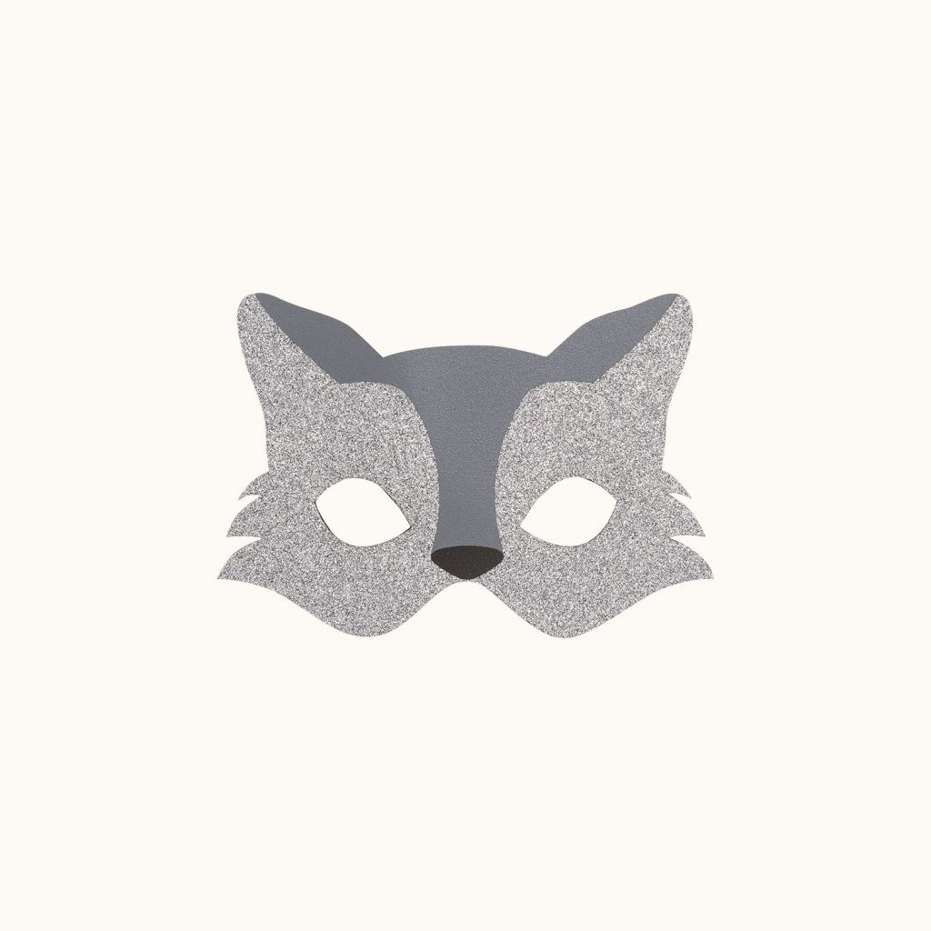 Wolf mask silver