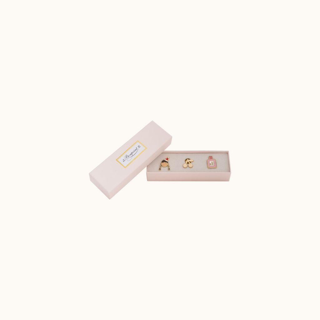 Box of 3 pins multicolor