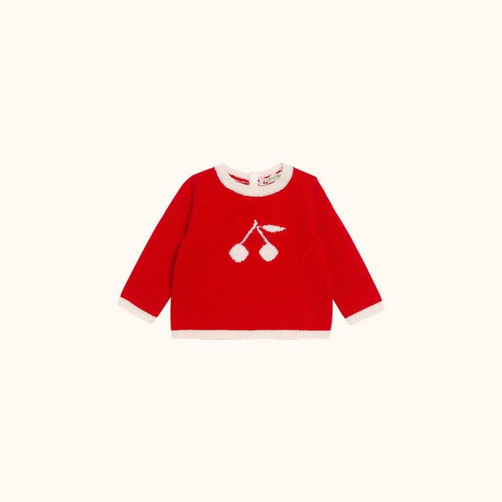 Children's pullover with intarsia motif