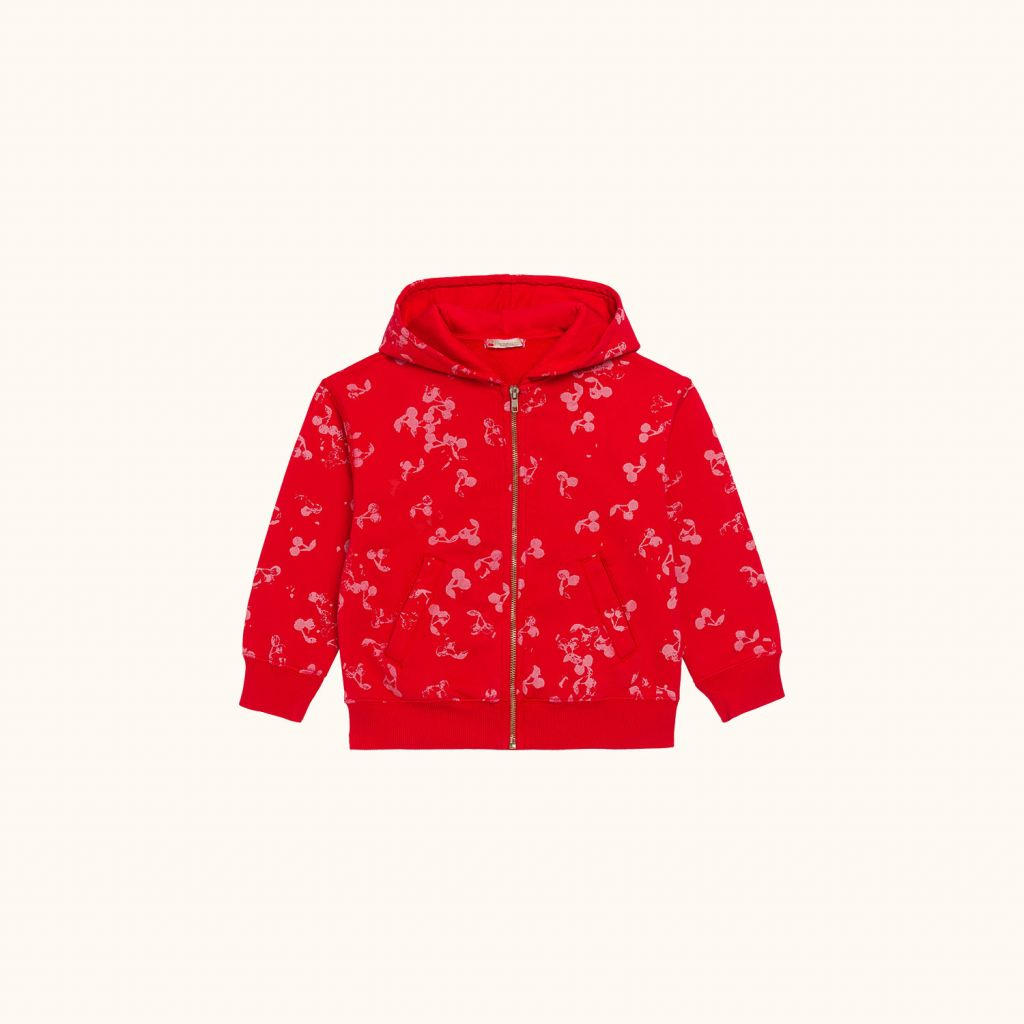 Children's printed sweatshirt with zipper