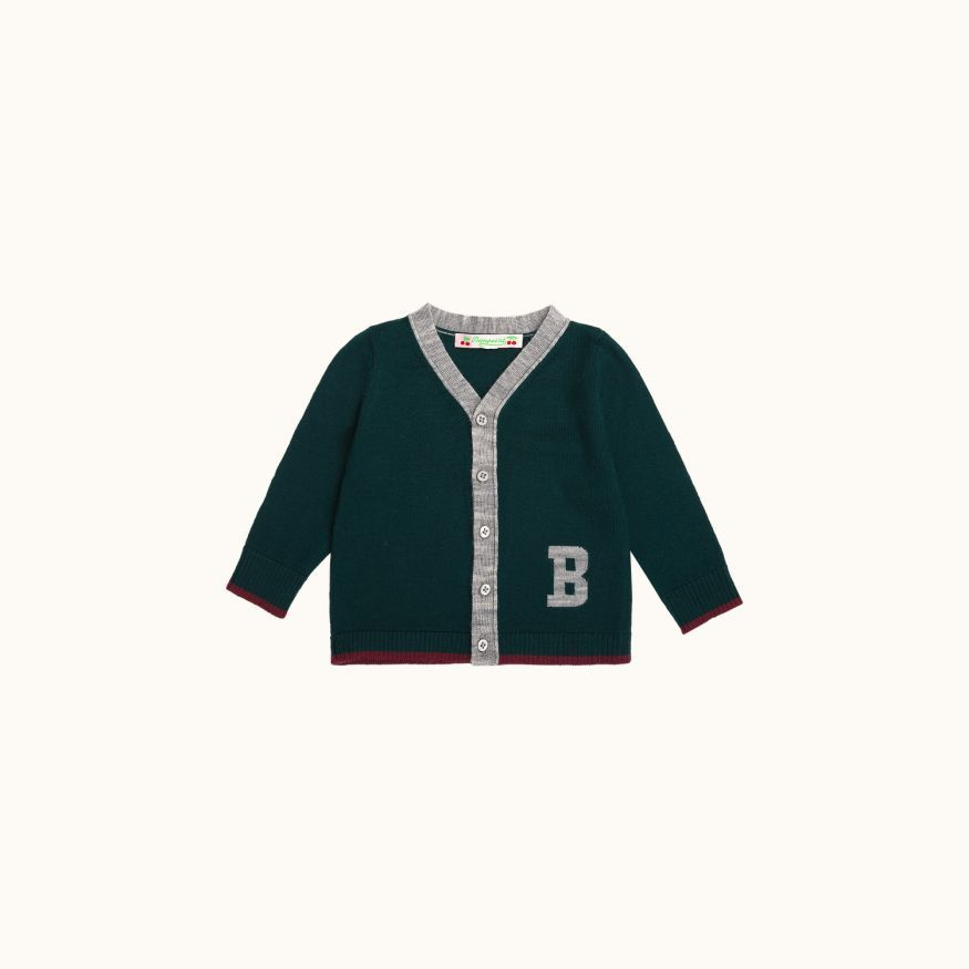 Cardigan bottle green
