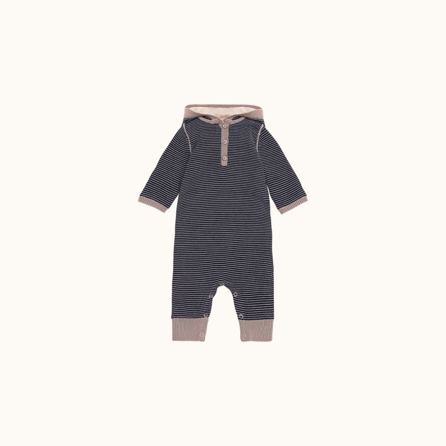 Babies' striped romper ink