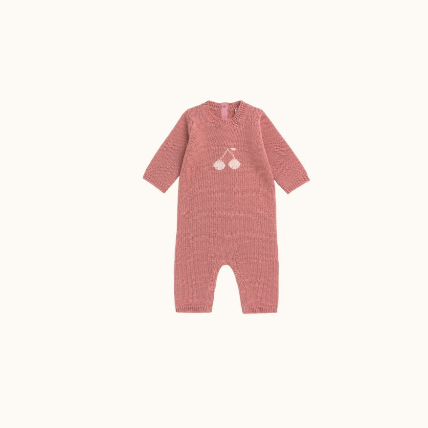 Babies' playsuit Medium pink
