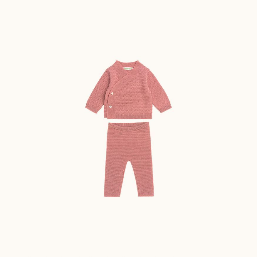Two-piece babies' set Medium pink