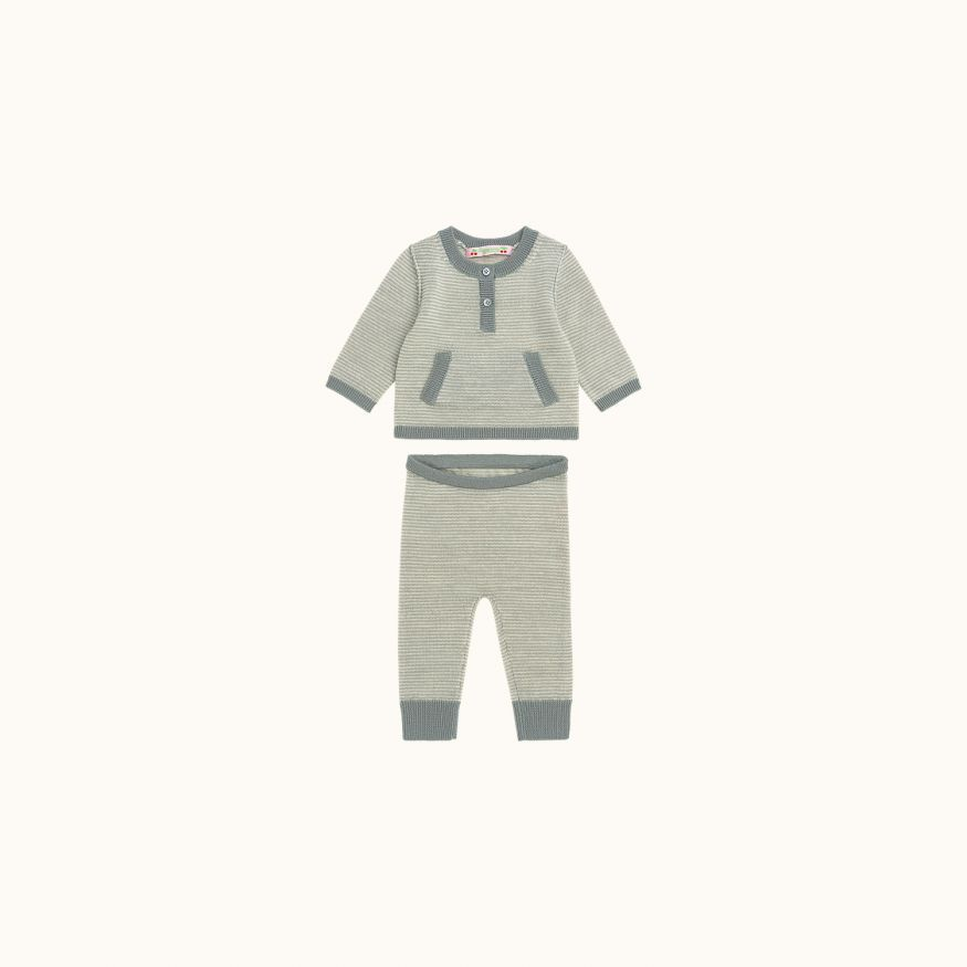 Babies' set gray blue