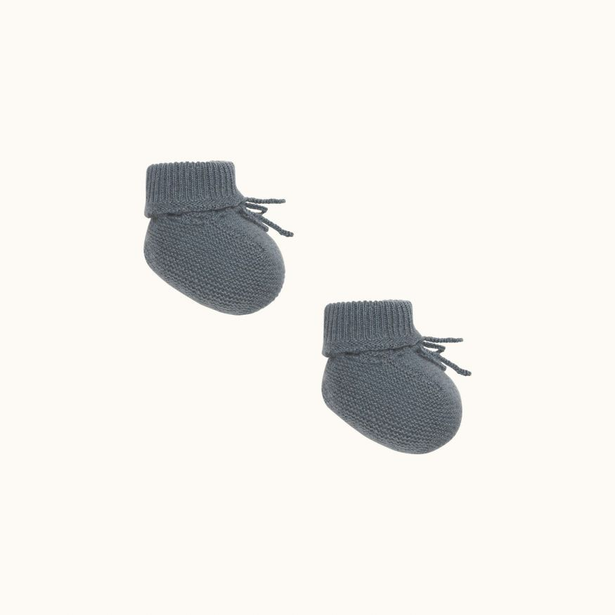 Babies' slippers gray blue