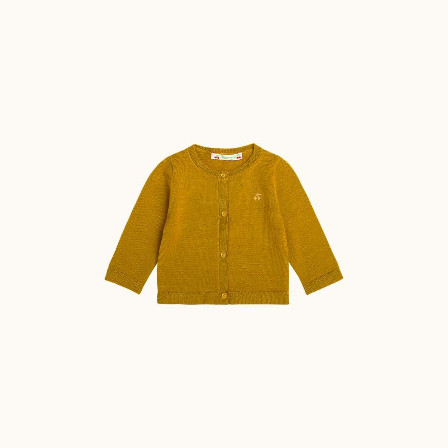 Babies' wool cardigan honey