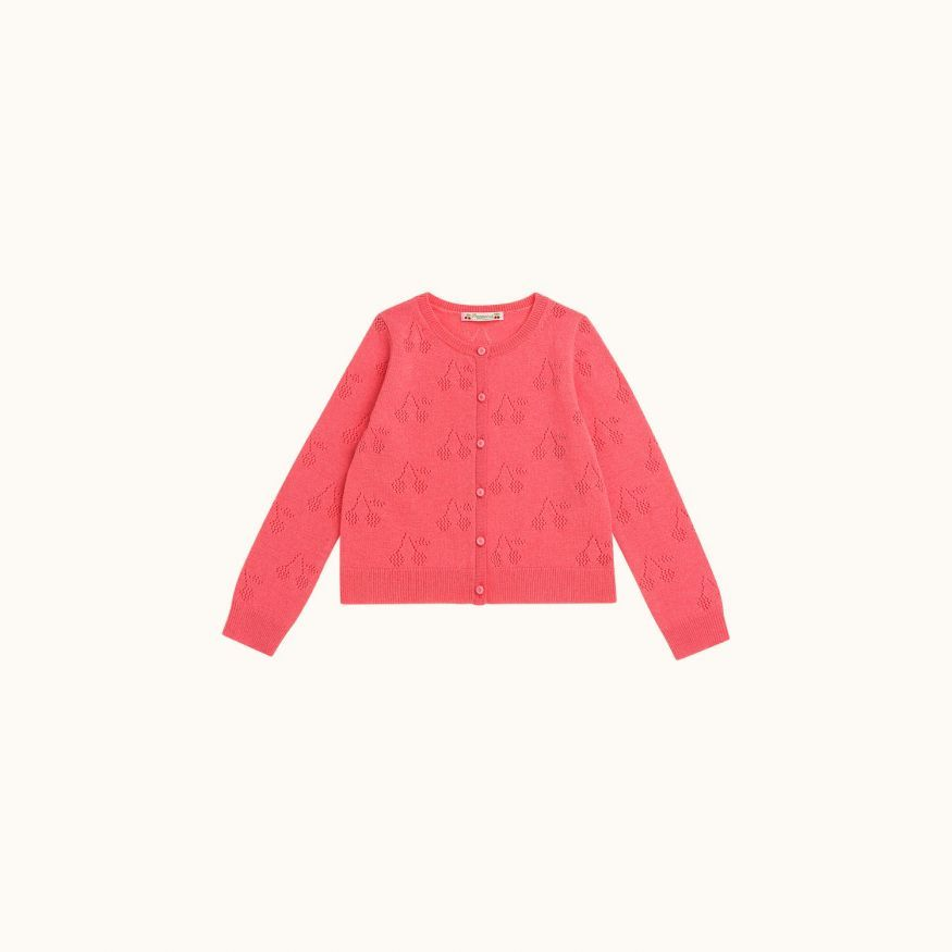 Cardigan rose bonbon