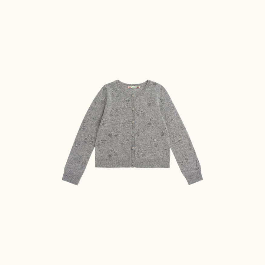 Cardigan gris chiné clair