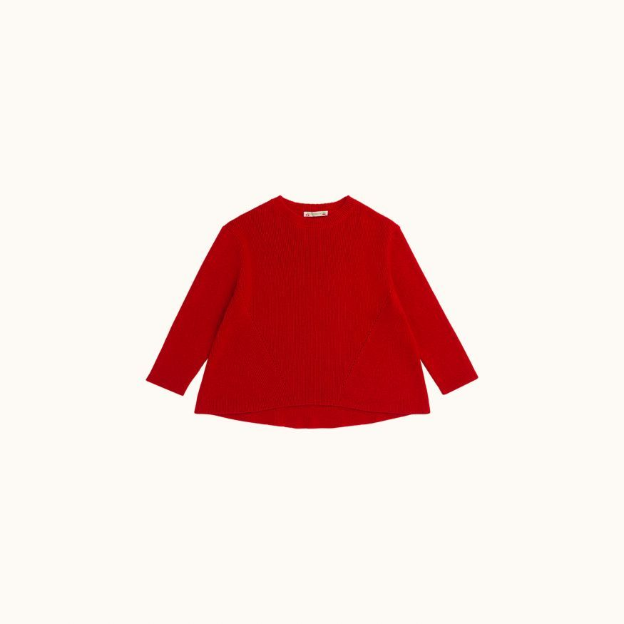 Tunic sweater red