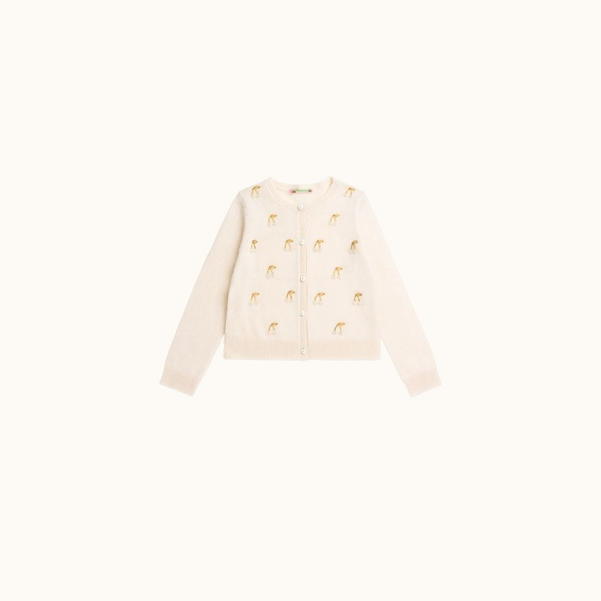 Children's cardigan Ecru