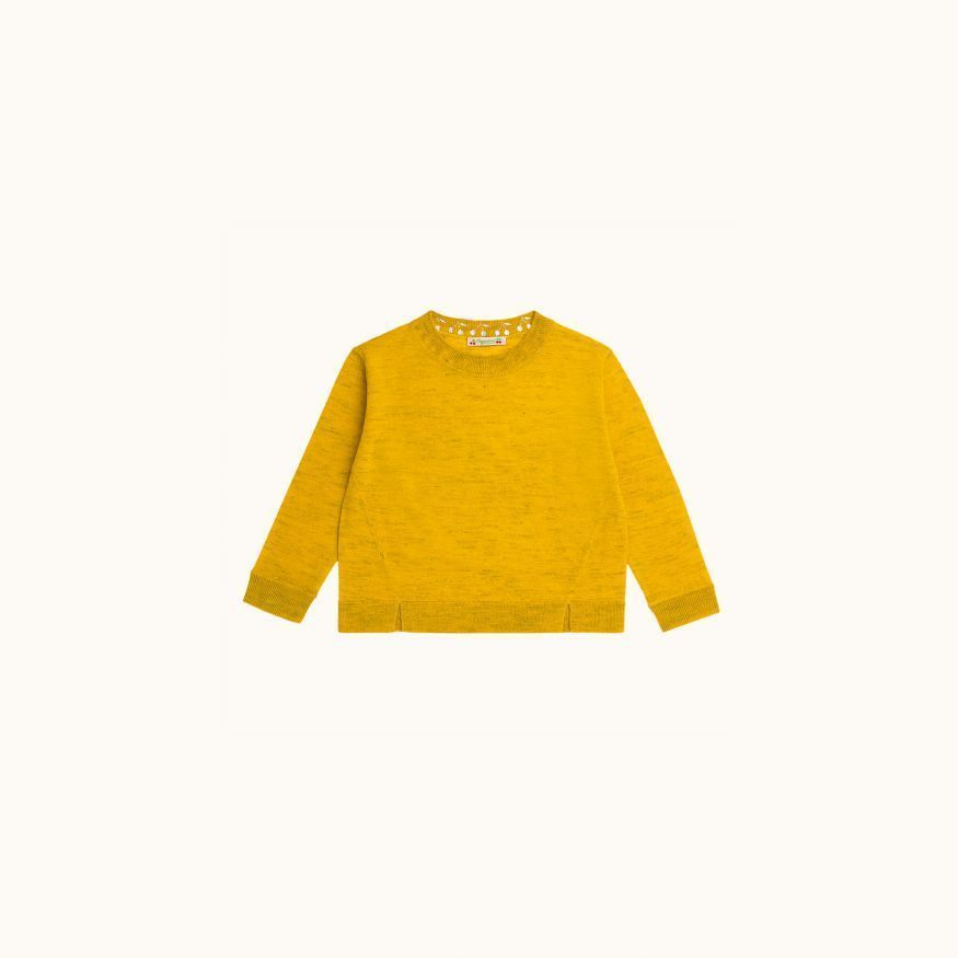 Tunic sweater sunshine yellow