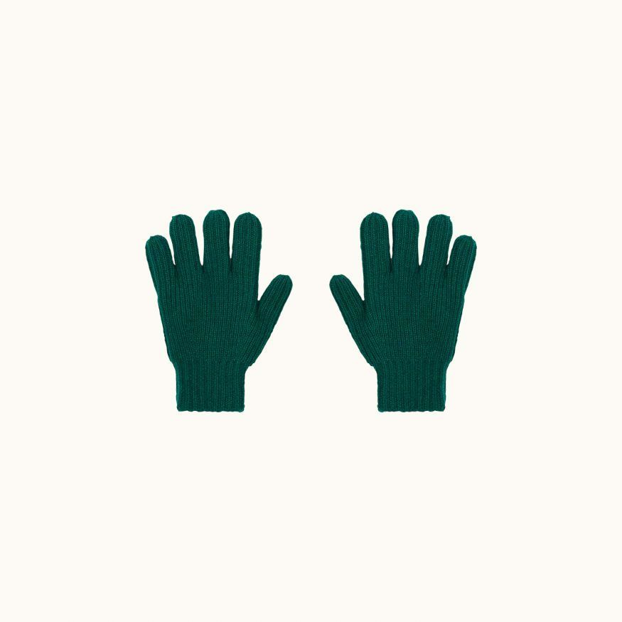 Gloves emerald green