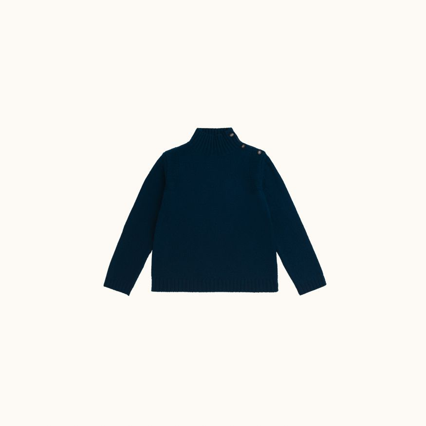 Sweater petroleum blue