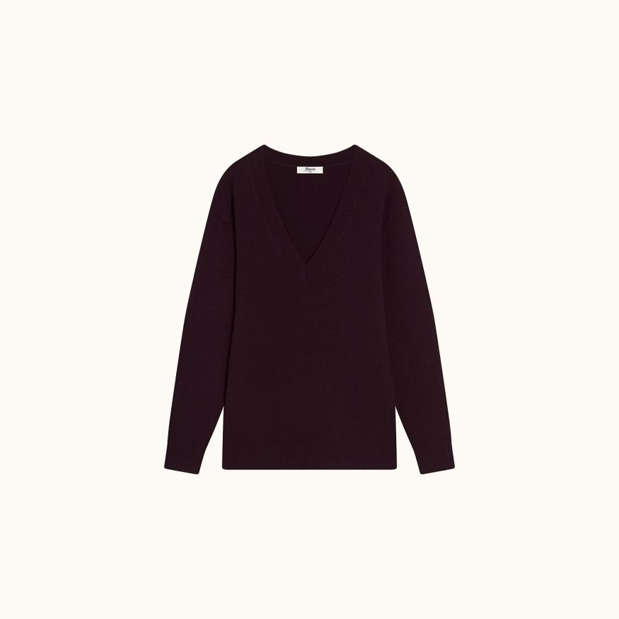 Long-sleeved pullover blueberry